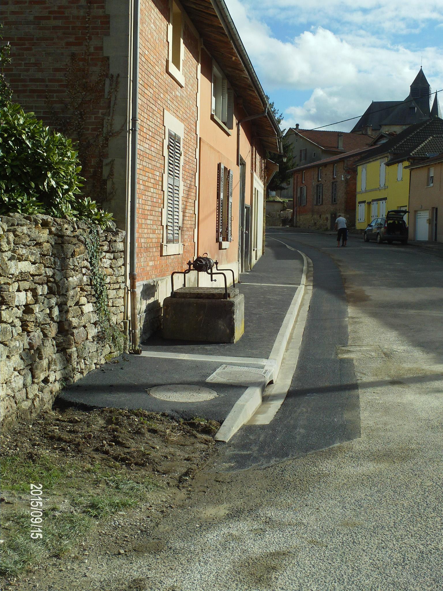 Fin des travaux rue des Sablons